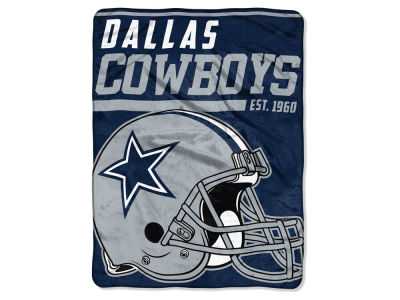 "Dallas Cowboys Micro Raschel 46x60 ""40 Yard Dash"" Blanket"
