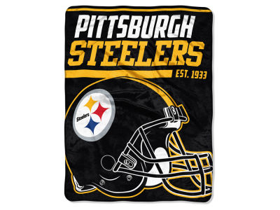 "Pittsburgh Steelers Micro Raschel 46x60 ""40 Yard Dash"" Blanket"