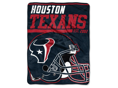 "Houston Texans Micro Raschel 46x60 ""40 Yard Dash"" Blanket"
