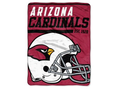 "Arizona Cardinals Micro Raschel 46x60 ""40 Yard Dash"" Blanket"