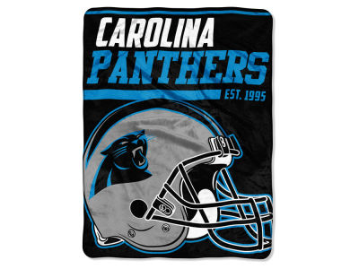 "Carolina Panthers Micro Raschel 46x60 ""40 Yard Dash"" Blanket"