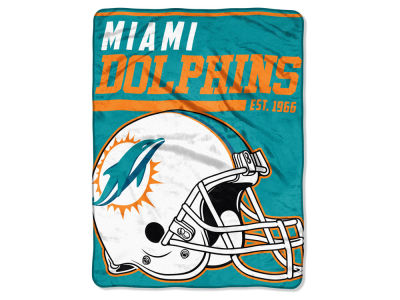 "Miami Dolphins The Northwest Company Micro Raschel 46x60 ""40 Yard Dash"" Blanket"