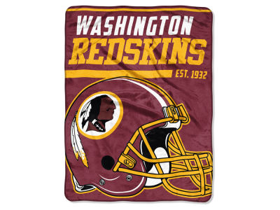 "Washington Redskins Micro Raschel 46x60 ""40 Yard Dash"" Blanket"