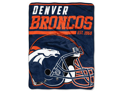 "Denver Broncos The Northwest Company Micro Raschel 46x60 ""40 Yard Dash"" Blanket"