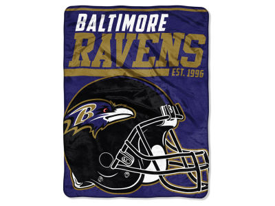 "Baltimore Ravens The Northwest Company Micro Raschel 46x60 ""40 Yard Dash"" Blanket"