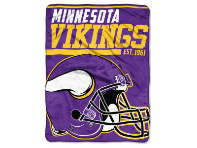 "Minnesota Vikings The Northwest Company Micro Raschel 46x60 ""40 Yard Dash"" Blanket"