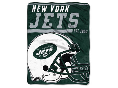 "New York Jets Micro Raschel 46x60 ""40 Yard Dash"" Blanket"