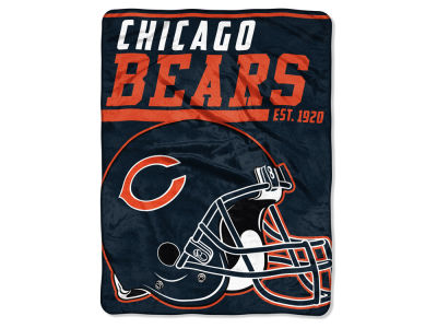 "Chicago Bears Micro Raschel 46x60 ""40 Yard Dash"" Blanket"
