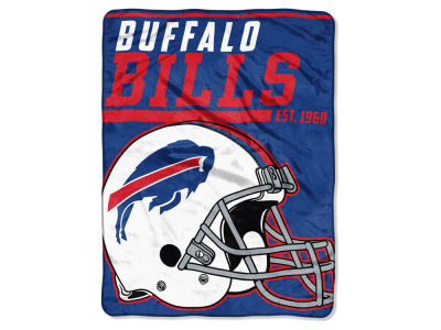 "Buffalo Bills Micro Raschel 46x60 ""40 Yard Dash"" Blanket"