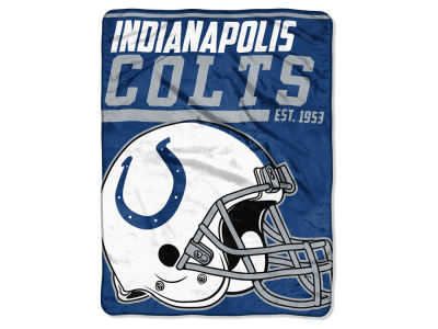 "Indianapolis Colts Micro Raschel 46x60 ""40 Yard Dash"" Blanket"