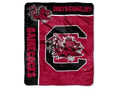 "South Carolina Gamecocks Plush Throw 50x60 ""School Spirit"" Blanket"