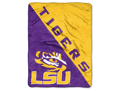 "LSU Tigers The Northwest Company Micro Raschel 46x60 ""Halftone"" Blanket"