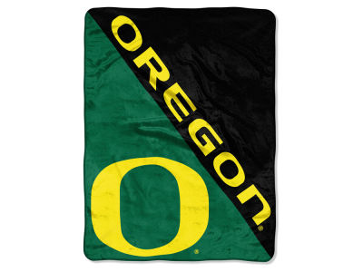 "Oregon Ducks Micro Raschel 46x60 ""Halftone"" Blanket"