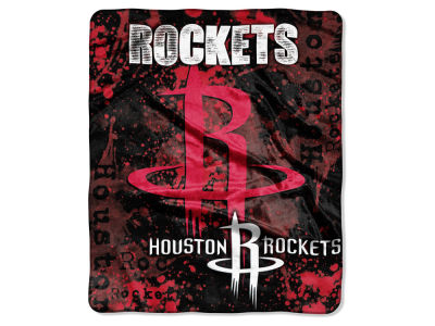 Houston Rockets 50x60in Plush Throw Drop Down