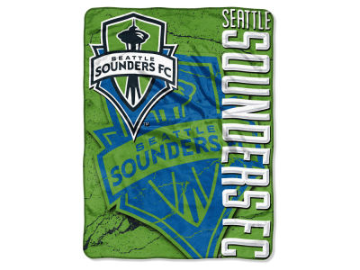 "Seattle Sounders FC The Northwest Company MLS Micro Raschel 46x60 ""Concrete"" Throw Blanket"