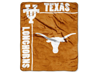 "Texas Longhorns Plush Throw 50x60 ""School Spirit"" Blanket"