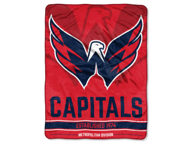 "Washington Capitals Micro Raschel 46x60 ""Break Away"" Blanket"