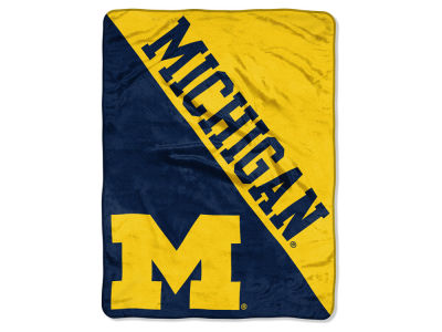 "Michigan Wolverines The Northwest Company Micro Raschel 46x60 ""Halftone"" Blanket"