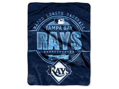 Tampa Bay Rays Micro Raschel 46inch x 60inch Structure Blanket