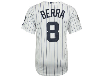 New York Yankees Yogi Berra MLB Yogi Double Patch Replica Cool Base Jersey