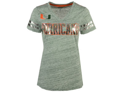 Miami Hurricanes GIII NCAA Women's Off Tackle T-Shirt