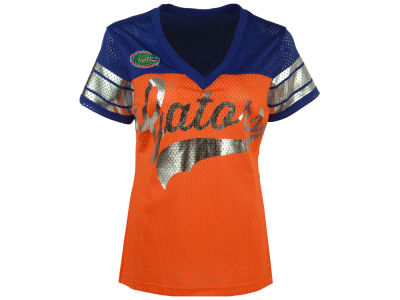 Florida Gators GIII NCAA Women's Pass Rush Mesh T-Shirt