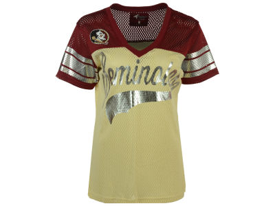 Florida State Seminoles GIII NCAA Women's Pass Rush Mesh T-Shirt