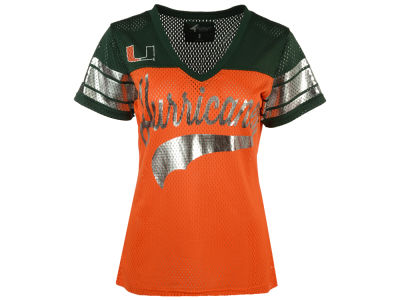 Miami Hurricanes G-III Sports NCAA Women's Pass Rush Mesh T-Shirt