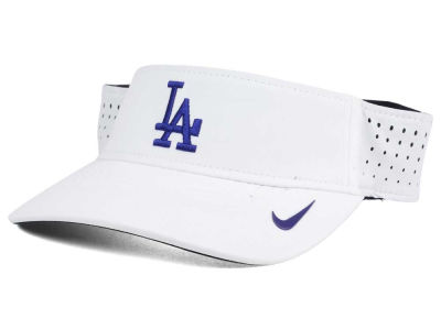 Los Angeles Dodgers Nike MLB 2016 White Visor