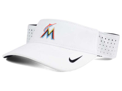Miami Marlins Nike MLB 2016 White Visor