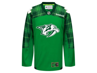 Nashville Predators Reebok NHL Men's St. Patricks Day Jersey
