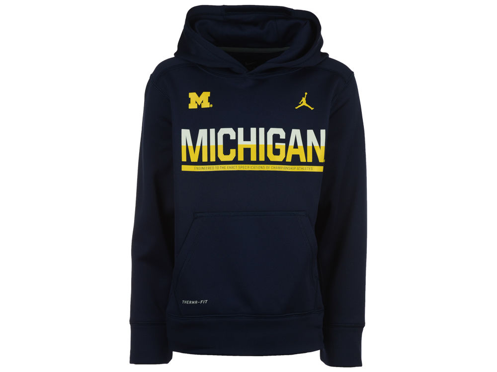 Michigan Wolverines Nike NCAA Youth Sideline KO Hoodie  001edeeb1