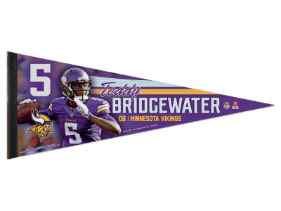 Minnesota Vikings Teddy Bridgewater Wincraft 12x30 Premium Player Pennant