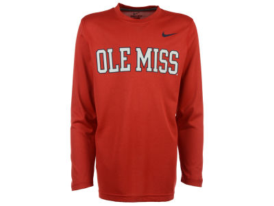 Ole Miss Rebels Nike NCAA Youth Legend Wordmark Long Sleeve T-Shirt