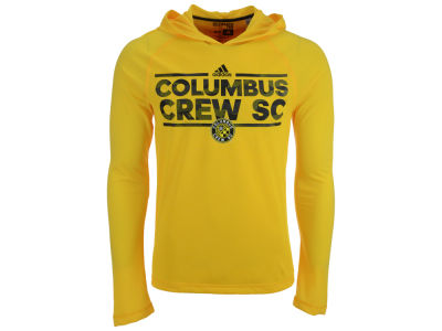 Columbus Crew SC adidas MLS Men's Dassler Tactical Hooded Long Sleeve T-Shirt