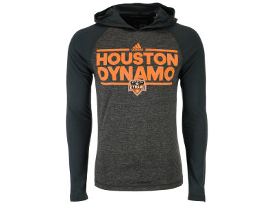 Houston Dynamo adidas MLS Men's Dassler Tactical Hooded Long Sleeve T-Shirt