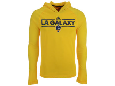 LA Galaxy adidas MLS Men's Dassler Tactical Hooded Long Sleeve T-Shirt