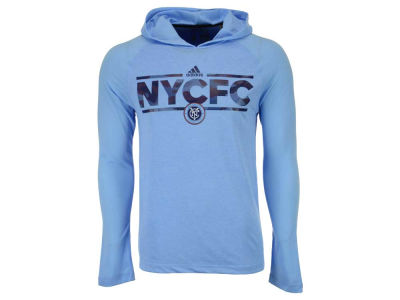 New York City FC adidas MLS Men's Dassler Tactical Hooded Long Sleeve T-Shirt