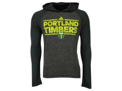 Portland Timbers adidas MLS Men's Dassler Tactical Hooded Long Sleeve T-Shirt