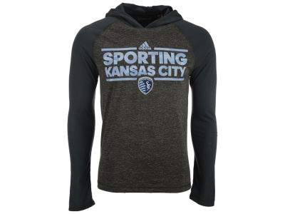 Sporting Kansas City adidas MLS Men's Dassler Tactical Hooded Long Sleeve T-Shirt