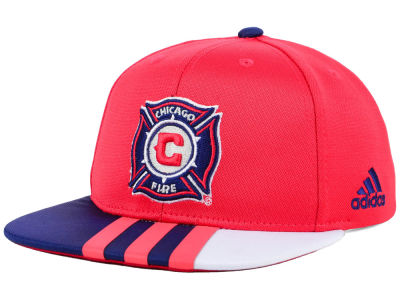 Chicago Fire adidas MLS Kids Authentic Snap Cap