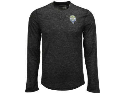 Seattle Sounders FC adidas MLS Men's Long Sleeve Henley T-Shirt