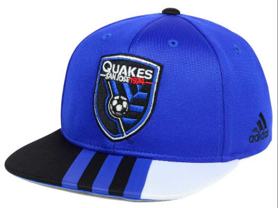 San Jose Earthquakes adidas MLS Kids Authentic Snap Cap