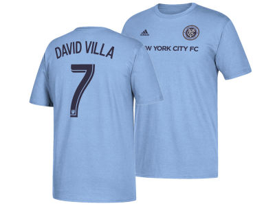 New York City FC David Villa adidas MLS Men's Primary Player T-Shirt