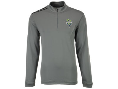 Seattle Sounders FC adidas MLS 3-Stripe 1/4 Zip Pullover