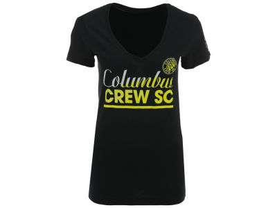 Columbus Crew SC adidas MLS Women's Slant Line Repeat T-Shirt