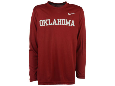 Oklahoma Sooners Nike NCAA Youth Legend Wordmark Long Sleeve T-Shirt