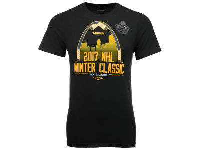 St. Louis Blues Reebok NHL Men's Winter Classic Stick Arch T-Shirt