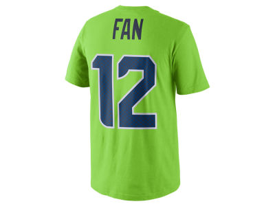 Seattle Seahawks Fan #12 Nike NFL Men's Color Pack Name & Number T-Shirt