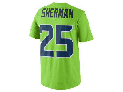 Seattle Seahawks Richard Sherman Nike NFL Men's Color Pack Name & Number T-Shirt
